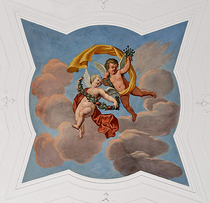 Picture: Section from the ceiling painting in the margravine's bedroom