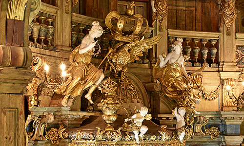 Picture: Margravial Opera House after the restoration, detail of the prince's loge