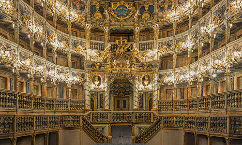 Picture: Margravial Opera House after the restoration, view of the prince's loge